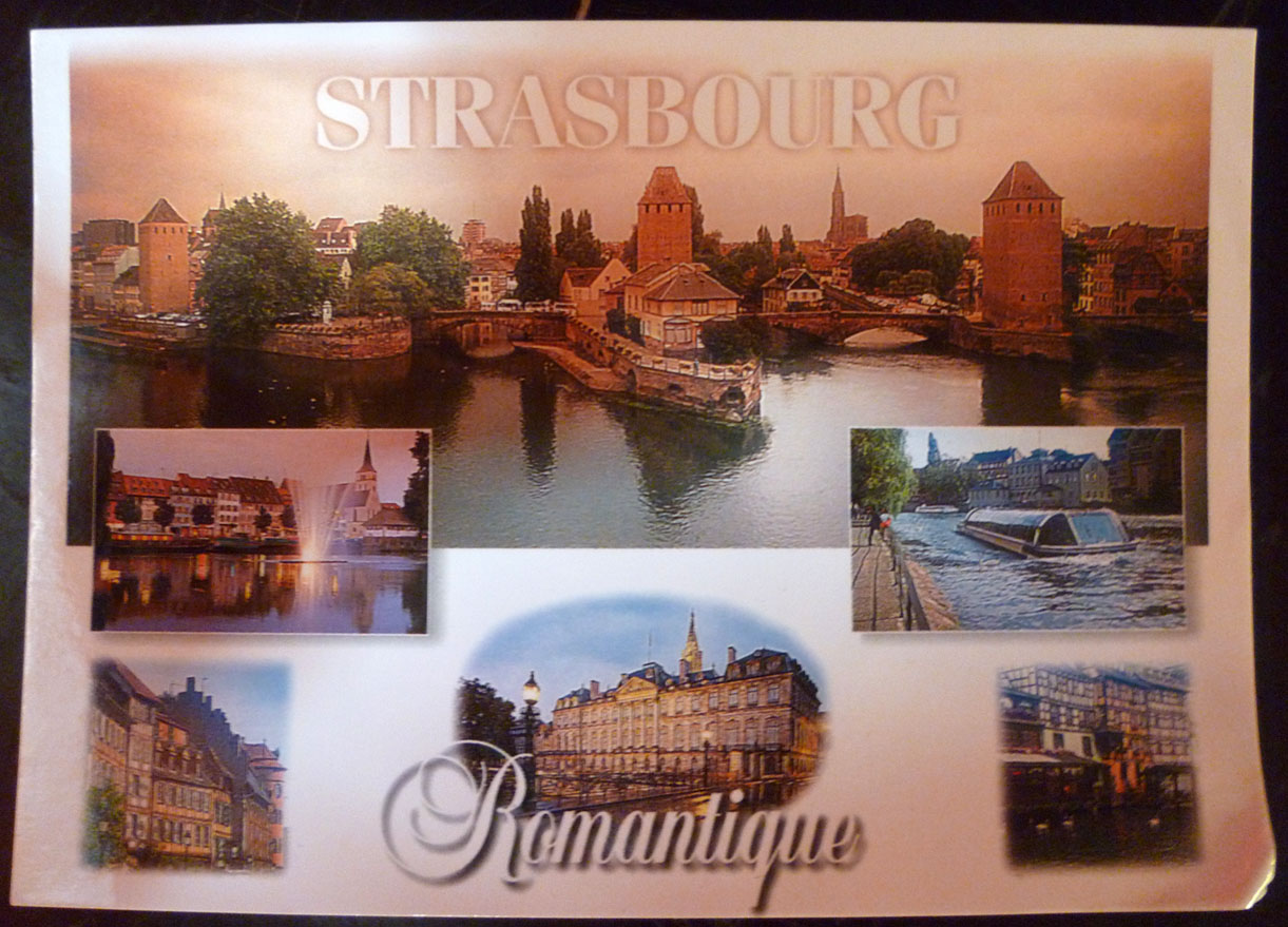 carte postale strasbourg